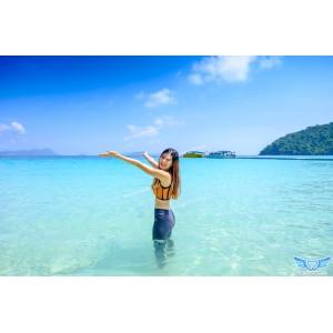 แพคเกจทัวร์ เกาะนาวโอพี+เกาะหัวใจมรกต+เกาะฮอร์สชู+เกาะย่านเชือก 2 วัน 1 คืน / B.A+ ( พักห้อง Resort Air เกาะนาวโอพี ) ( เกาะพม่า )